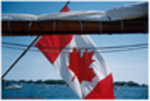 Canadian Flag in the Blue Nose II, Lake Ontario, Toronto